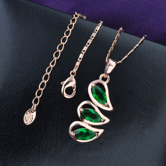 Alloy 18K Gold Plated Crystal Stone Jewelry Diana Engagement Set pictures & photos