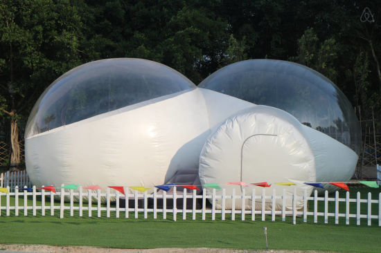 Family Camp Canopy Inflatable Clear Lodge Camping Bubble Tent for Lawn