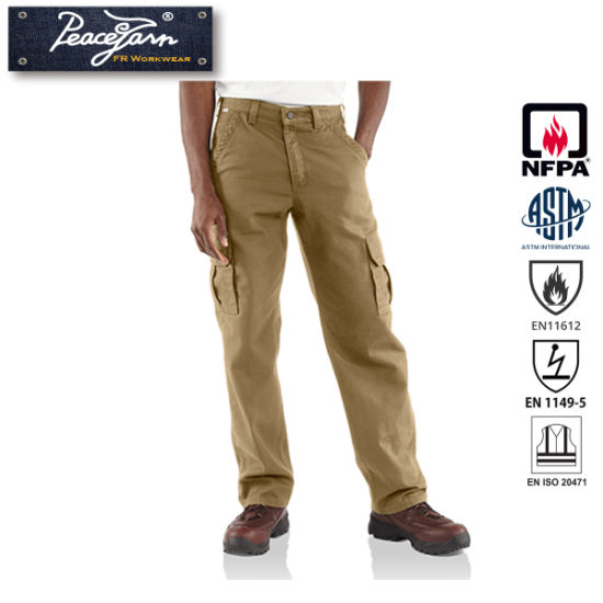100% Cotton Cargo Work Pant for Fire Retardant Clothing