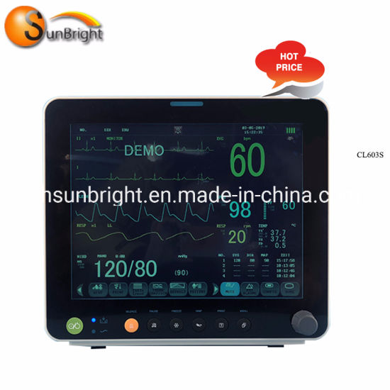 """Competitive Price Color TFT Display 12.1"""" Patient Monitor"""