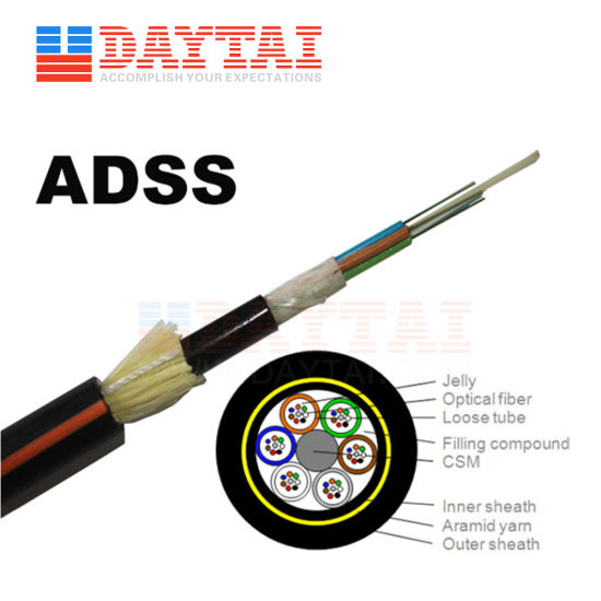 Several Single Mode or Multimode Outdoor ADSS Optical Cable