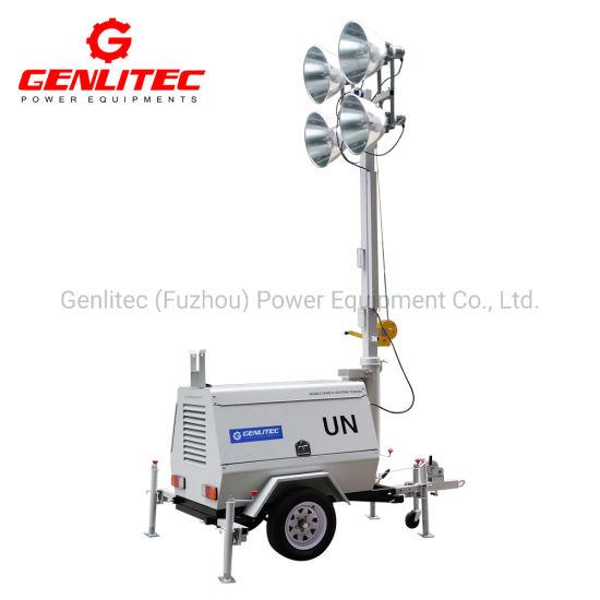 Genlitec Power (GLT4000-9M) Terex Type Kubota D1105-Bg Engine Towable Light  Tower