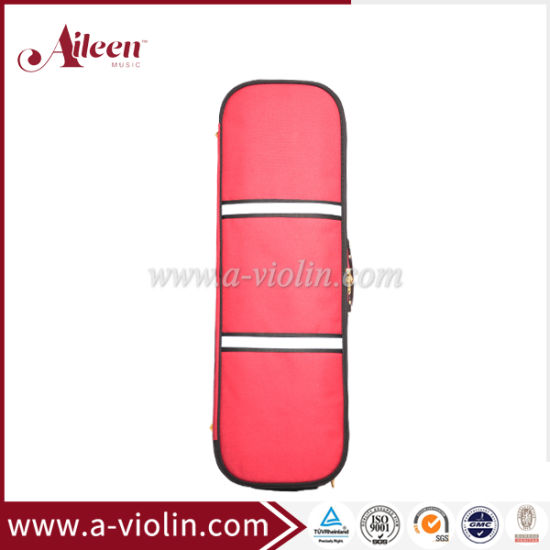 [Aileen]Red Color Oblong Shape Foamed Violin Light Case (CSV527A1)