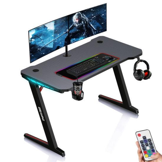 Hot Sale Desk for PC Gaming Computer Gaming Desk with MDF Carbon Fiber Desktop for Game