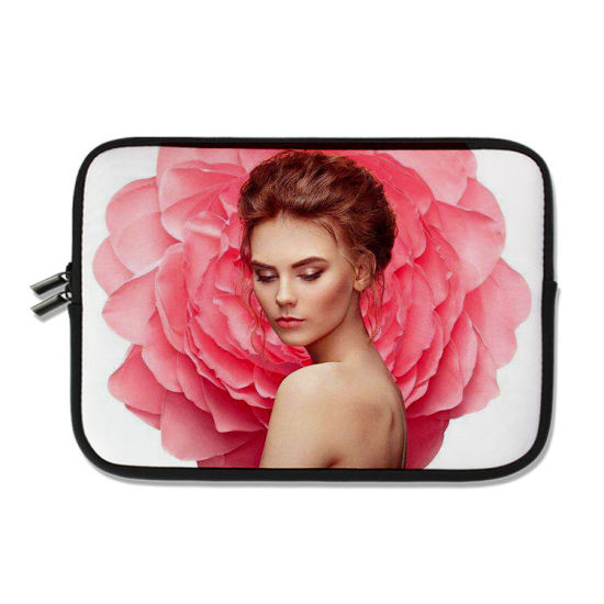 Wholesale High Quality 14 Inch Neoprene Sublimation Laptop Sleeve Case with Hidden Handles