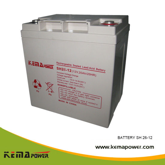 Sh 12ah 12VDC Free Maintenance Rechargeable UPS Battery for Solar System pictures & photos