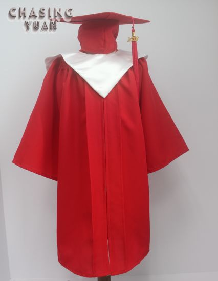1eaa27ba64f China Beautiful Red Kids Graduation Cap Gown and V-Stole - China ...
