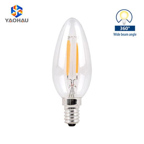 Wholesale Factory Lamp Residential Lighting E14 2W 4W Edison Style Light Filament LED Bulb