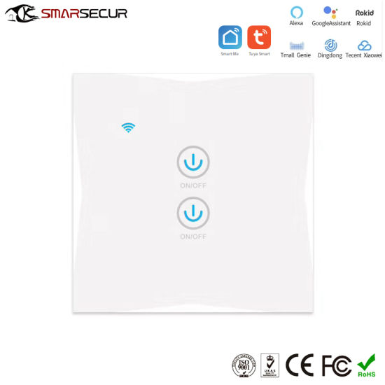 Smart Electrical Wall Switch, WiFi Network APP Control Smart Life Switch