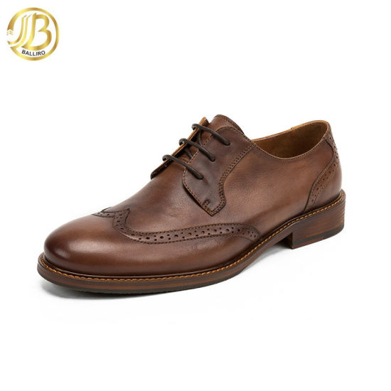 British Style Pattern Carved Male Dress Shoe Wholesale Price Man Business Leather Shoes with Laces