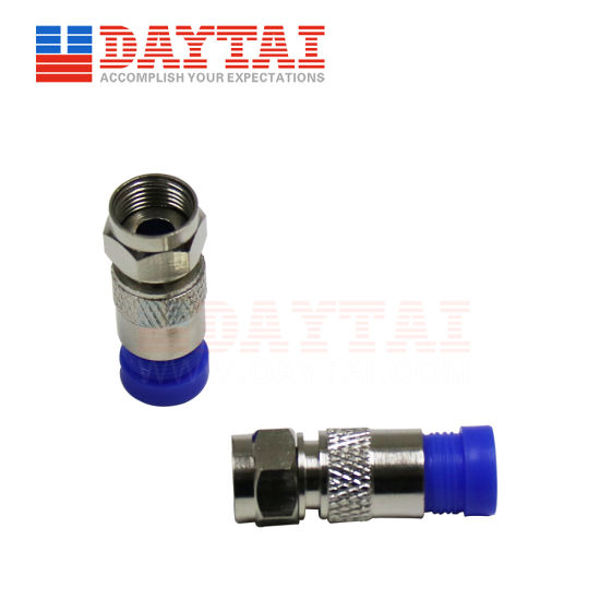 Suitable for Coaxial Cable Rg59, RG6 CATV F Compress Connector pictures & photos