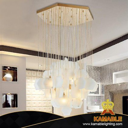 Indoor Hanging Modern Stainless Steel with Marble Sheet Pendant Lighting (KAP17-064) pictures & photos