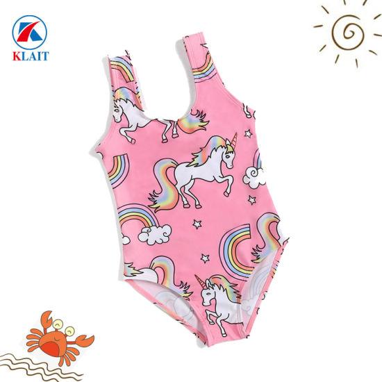 f4c41b6510 China OEM Service Custom One Piece Swimwear for Girls Flatlock Kids ...