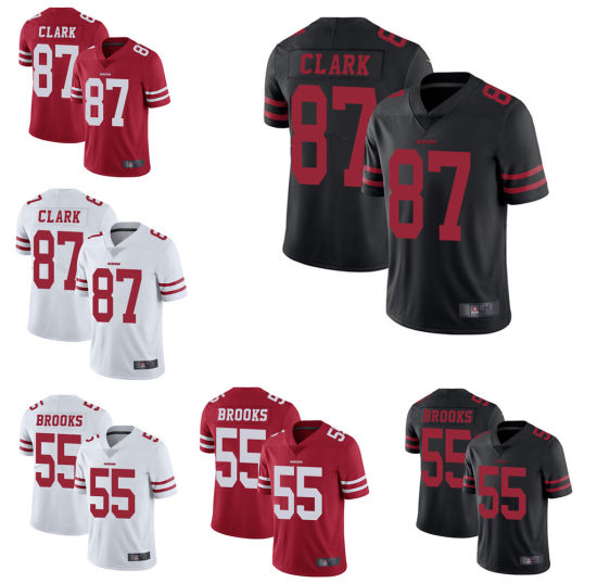 the best attitude a7419 8312a New San Francisco Jerry Rice Dwight Clark Custom Football Jerseys