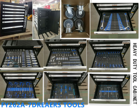 7 Drawers European Quality Trolley Tool Set (FY249A4) pictures & photos