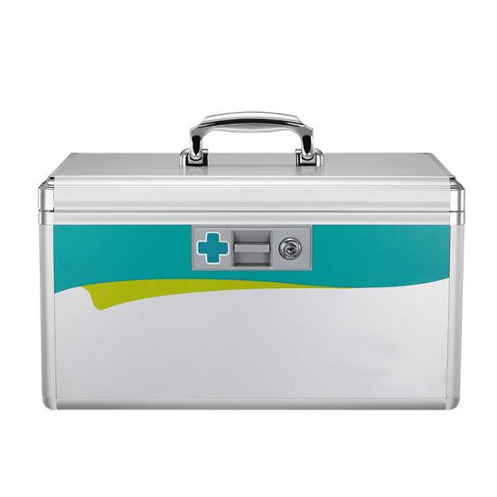 Aluminum Medicine Storage Box Locking First Aid Case (AR8030)