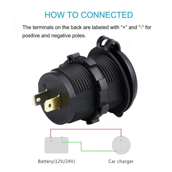 Highest Power USB Charger 4.2 amp with 12V Accessory Plug Socket Power Outlet