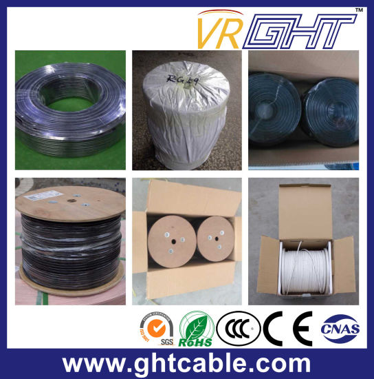 18AWG Cu White PVC Coaxial Cable RG6 Satellite Cable pictures & photos