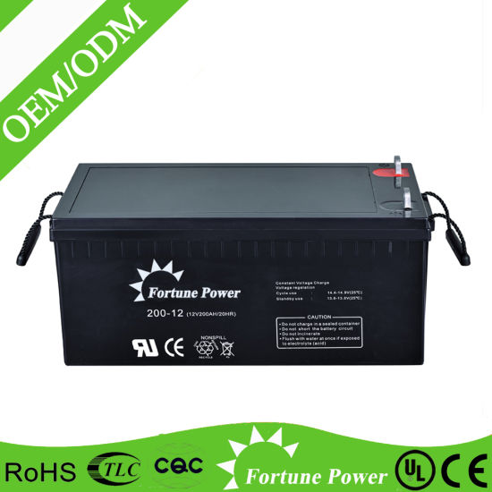 Rechargeable 12V 200ah Deep Cylce Solar Battery pictures & photos