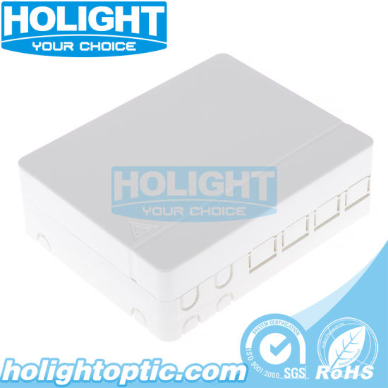 4 Ports Fiber Optic Wall Mounted FTTH Faceplate