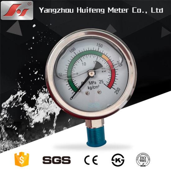 China 50mm 60mm 100mm Dial Size Mbar Kpa Bar MPa Hydraulic