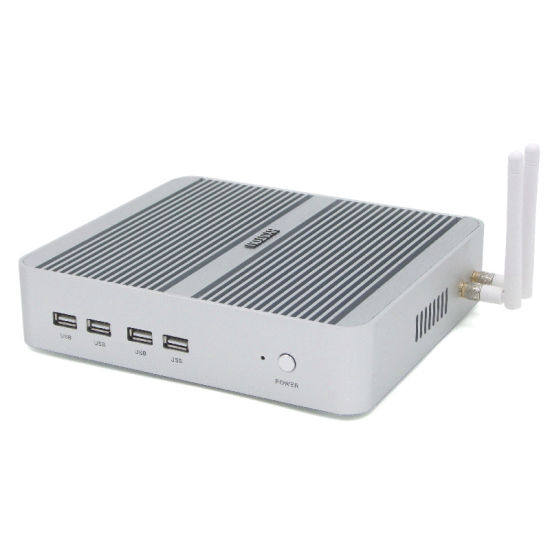Core I5 7200u Fanless Mini PC of 4G RAM 64G SSD Tiny Computer pictures & photos