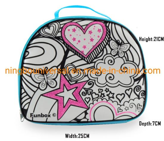 Factory Custom Fashion Wholesale Gift Toy Kids DIY Coloring Bag