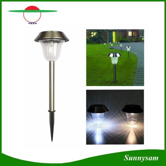 Stainless Steel Outdoor Solar LED Stake Light Solar Lawn Light Path Garden  Lamp