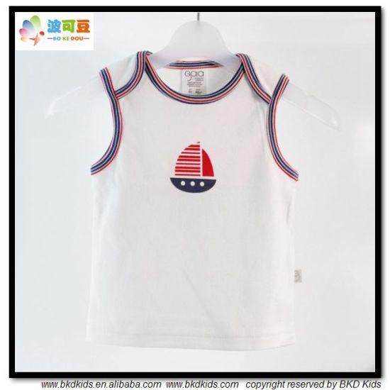 White Baby Clothes Sleeveless Toddler Boy T-Shirt