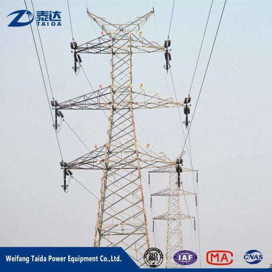 Multi-Circuit Electric Monopole 230kv Transmission Line Angular Steel Pole Tower
