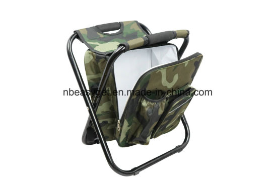 China Folding Chair Foldable Camouflage Backpack Cooler