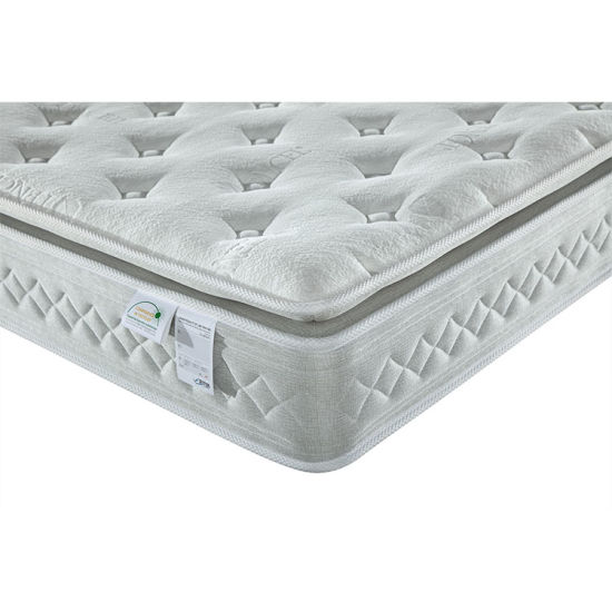 Pocketed Spring Mattress with Memory Foam Pillow Top Plush Mattress for Home Furniture pictures & photos