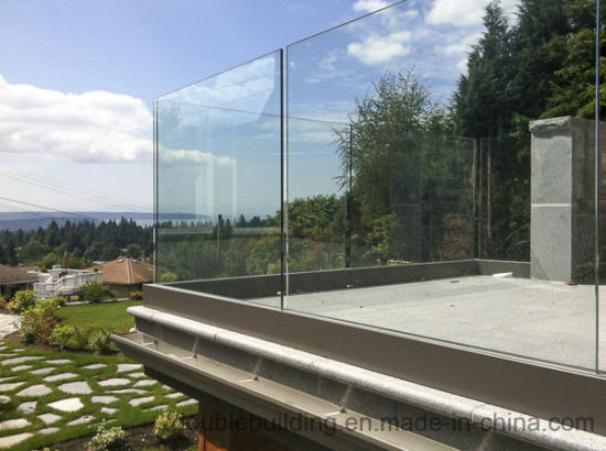 U Channel Aluminum Frameless Glass Railing for Balcony pictures & photos