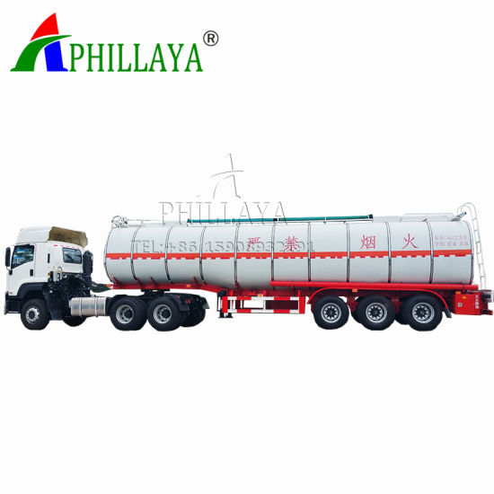 3 Axles Chemical Tanker Trailer Liquid Tank Container