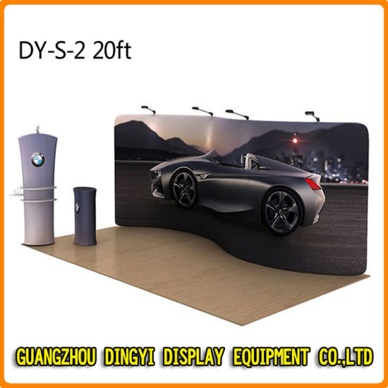 China Trade Show Booth Exhibition Advertising Backdrop Stand DYS - Car show wheel display stands