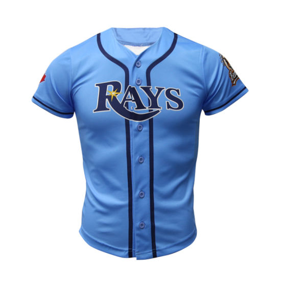 92d51d17 Healong Customized Dry Fit Sublimation Full Buttons Down Baseball Jerseys  pictures & photos