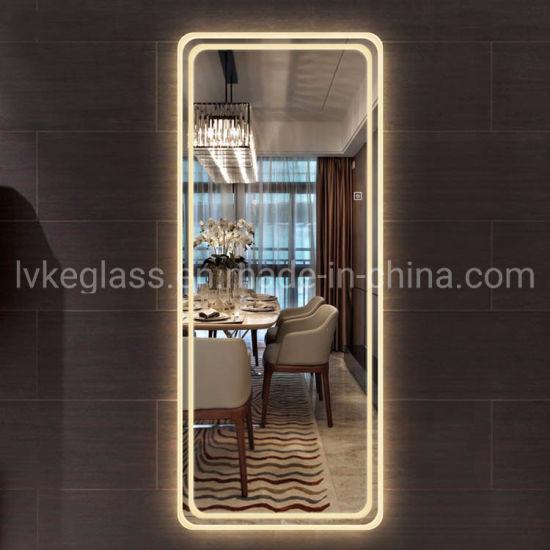 China Hotel Bathroom Full Length Led Dressing Mirror Bedroom Lighting Mirror China Led Mirror Multi Function Mirror
