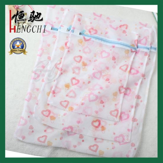 30*40cm Middle Size Net Laundry Bag with Zip Closure pictures & photos