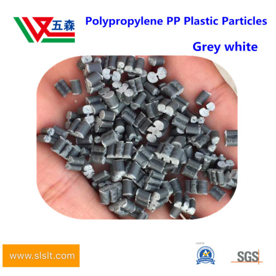 Polypropylene PP Regenerated Particles Black and Green