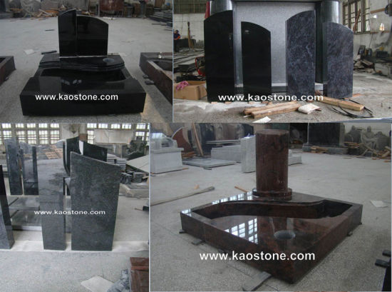 Cheap Good Quality Grey Granite G654 Gravestone in European Model pictures & photos