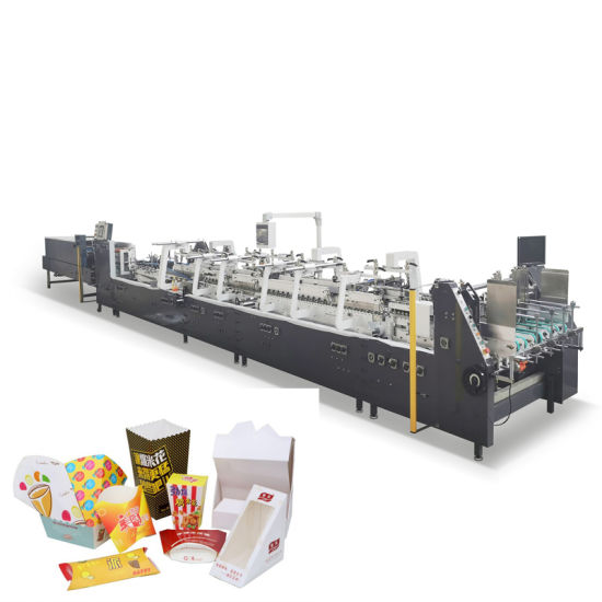 Automatic Paper Box Folder Gluer/Burger Box Folding Making Machine GS Series