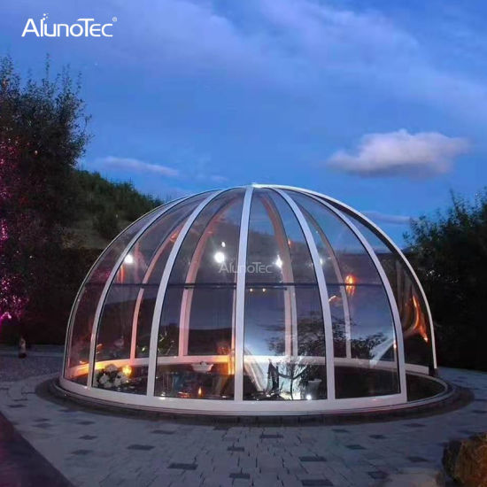 Outdoor Transparent Roof SPA Cover Canopy Modern Sliding Polycarbonate Dome Enclosure