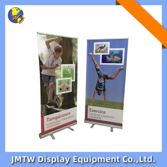 90*180cm or Customized Vinyl Roll up Banner Stand for Advertising with Aluminium Frame