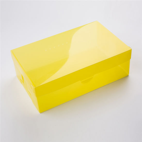 Hot Selling Twill Shoe Box Clear Transparent Plastic Box Packaging
