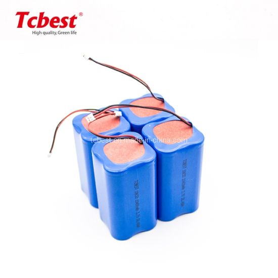 Icr18650 3.7V 10400 Rechargeable Battery Pack for Power Tool