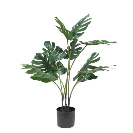 2020 New Modern Plastic Plants Artificial Tree in Pots for Indoor
