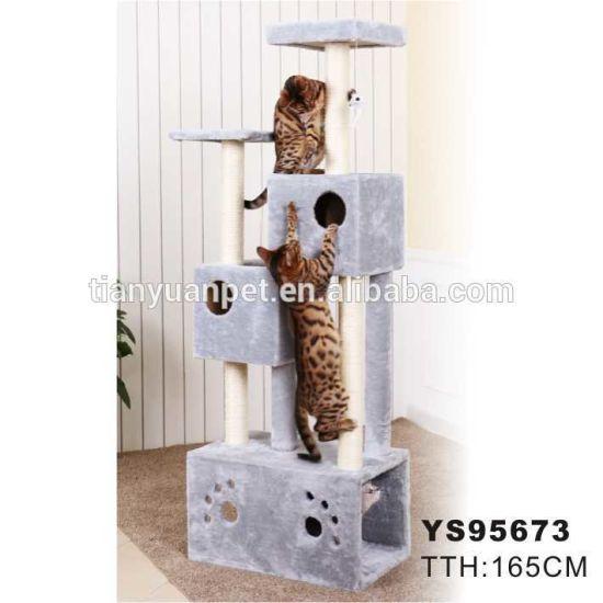 China Au Multi Level Cat Tree Scratching Post Scratcher Pole