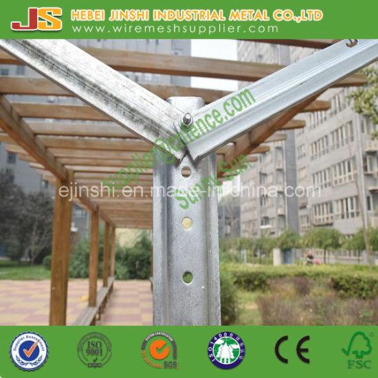 China Galvanized Y Shaped Gable Vineyard Trellis Vertical Rail Line