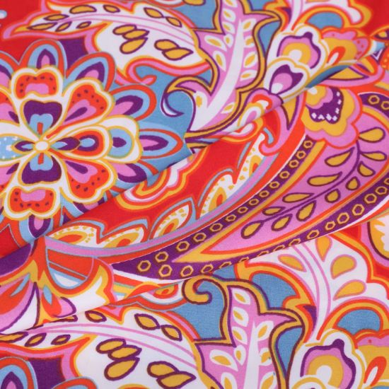 Bright Flower Pattern Brushed Mirofiber 100 Polyestr Fabric for Bedding Sheet