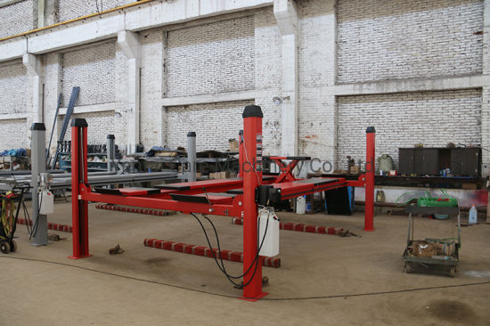 Wheel Alignment Functional 4 Post Hydraulic Auto Lift for Auto Maintenance Workship